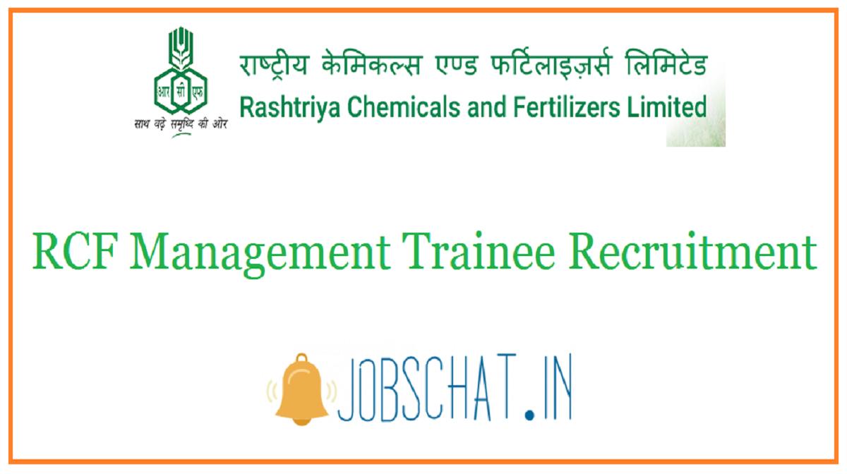 RCF Management Trainee Recruitment
