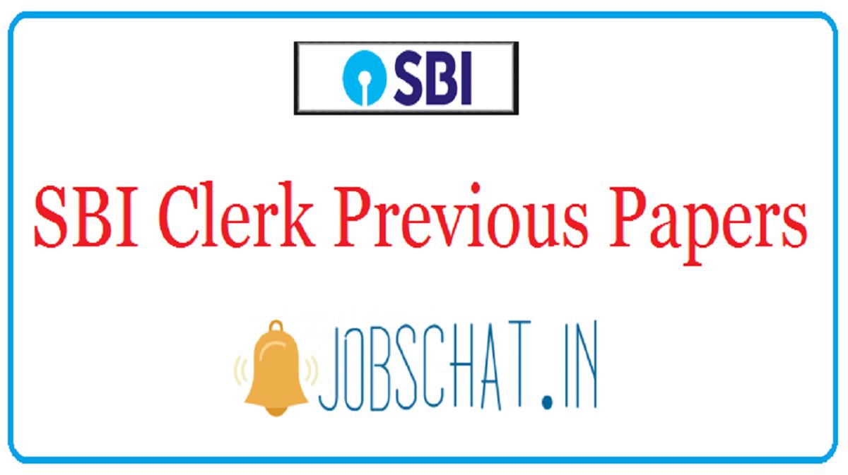 SBI Clerk Previous Papers