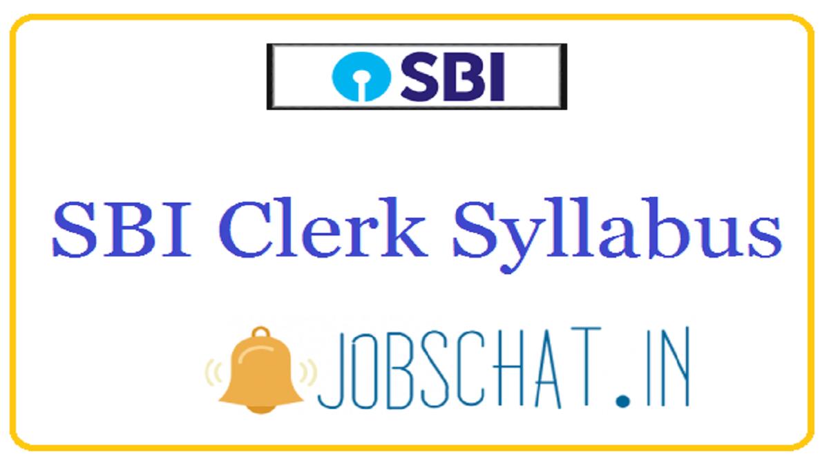 SBI Clerk Syllabus