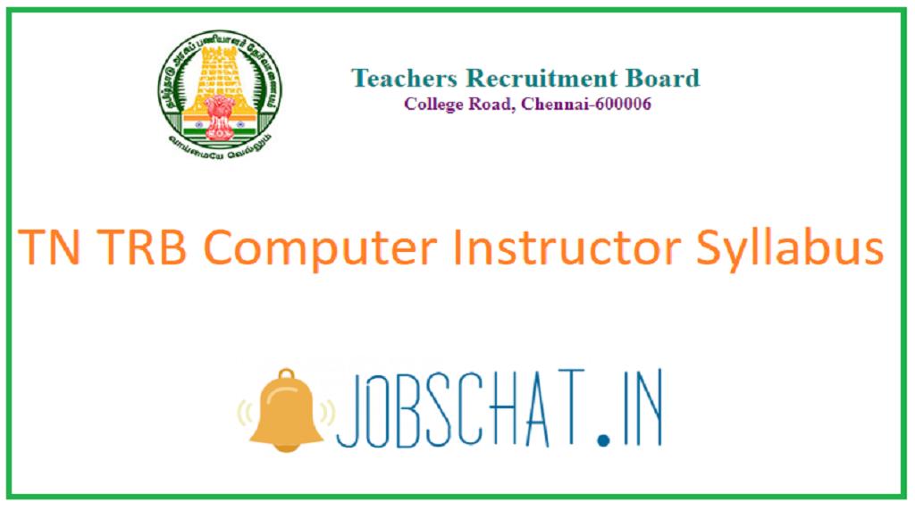 TN TRB Computer Instructor Syllabus