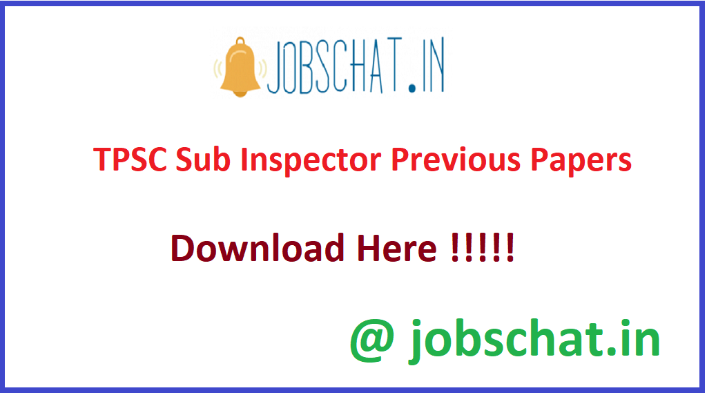 TPSC Sub Inspector Previous Papers