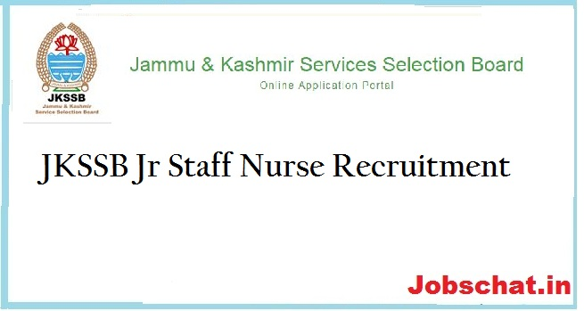 JKSSB Jr Staff Nurse Recruitment