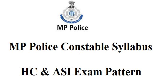 MP Police Constable Syllabus