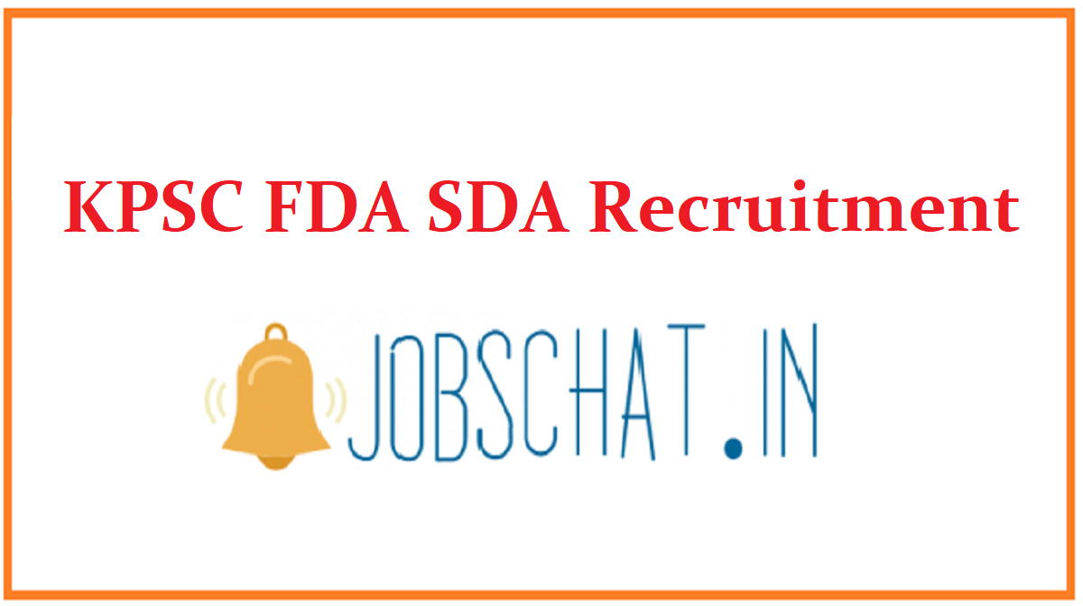KPSC FDA SDA Recruitment