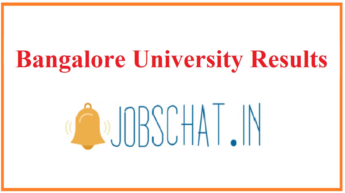 Bangalore University Results