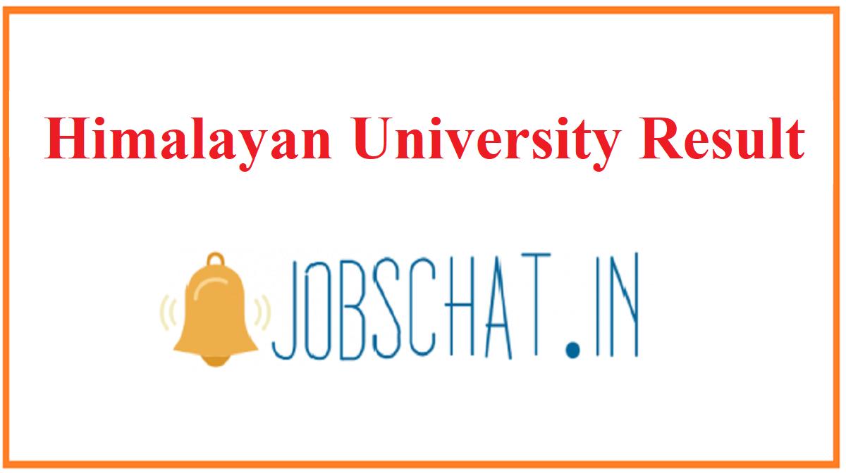Himalayan University Result