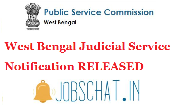 West Bengal Judicial Service 2019 Notification