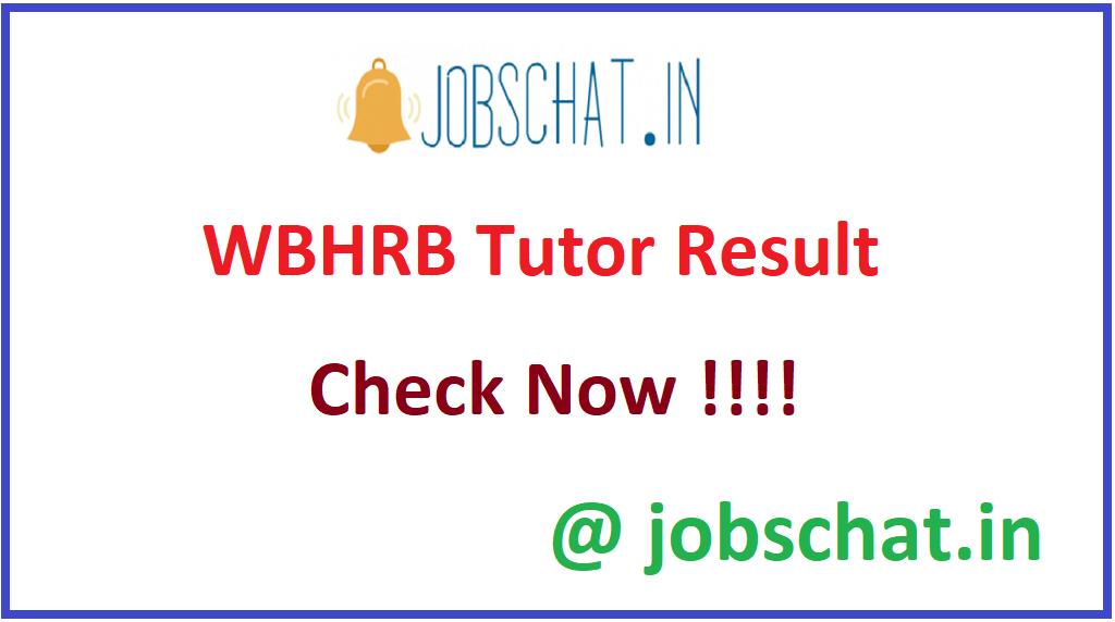 WBHRB Tutor Result