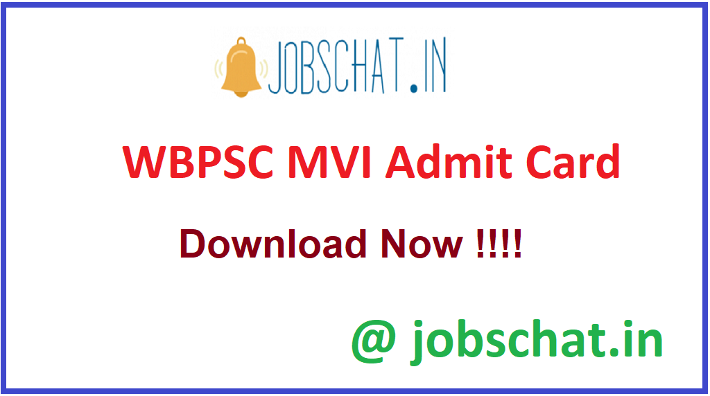 WBPSC MVI Admit Card