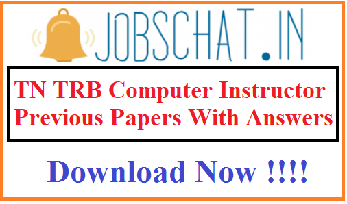 TN TRB Computer Instructor Previous Papers