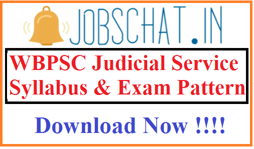WBPSC Judicial Service Syllabus