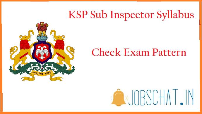 KSP Sub Inspector Syllabus
