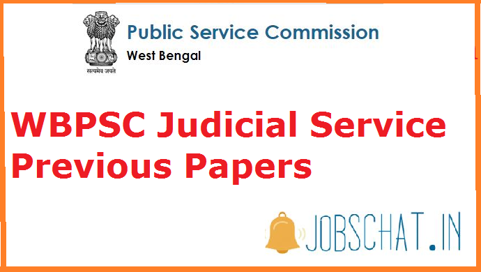 WBPSC Judicial Service Previous Papers