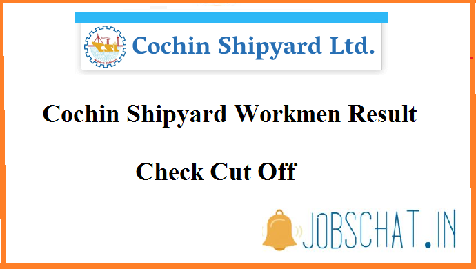 Cochin Shipyard Workmen Result