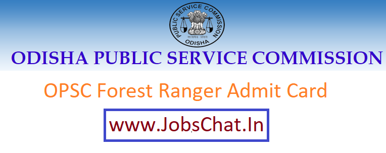 OPSC Forest Ranger Admit Card