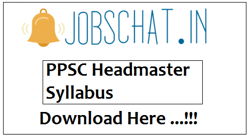 PPSC Headmaster Syllabus