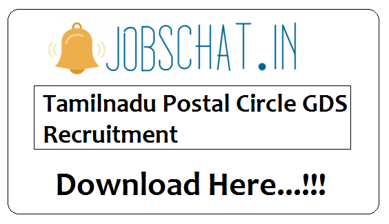 Tamilnadu Postal Circle GDS Recruitment