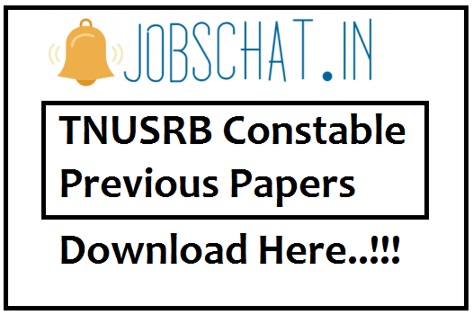TNUSRB Constable Previous Papers