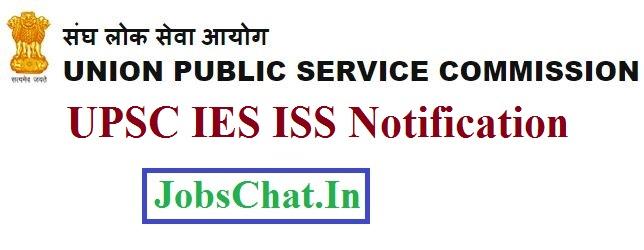 UPSC IES ISS Notification