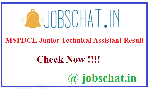 MSPDCL Junior Technical Assistant Result