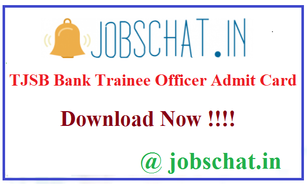TJSB Bank Trainee Officer Admit Card