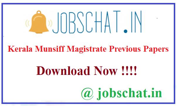 Kerala Munsiff Magistrate Previous Papers