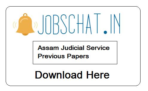Assam Judicial Service Previous Papers