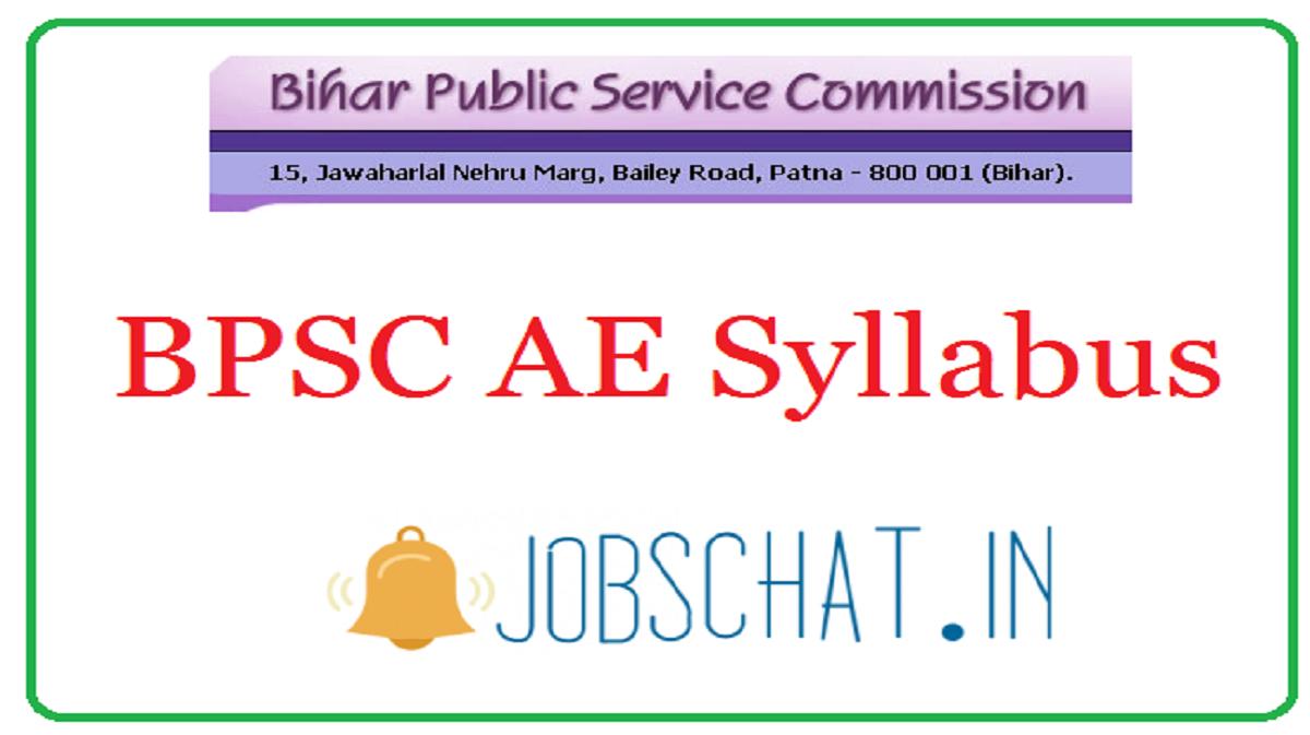 BPSC AE Syllabus