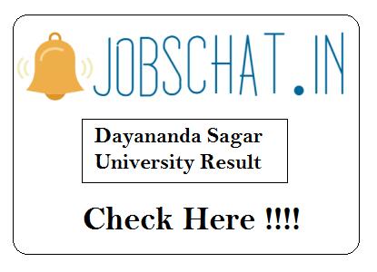 Dayananda Sagar University Result