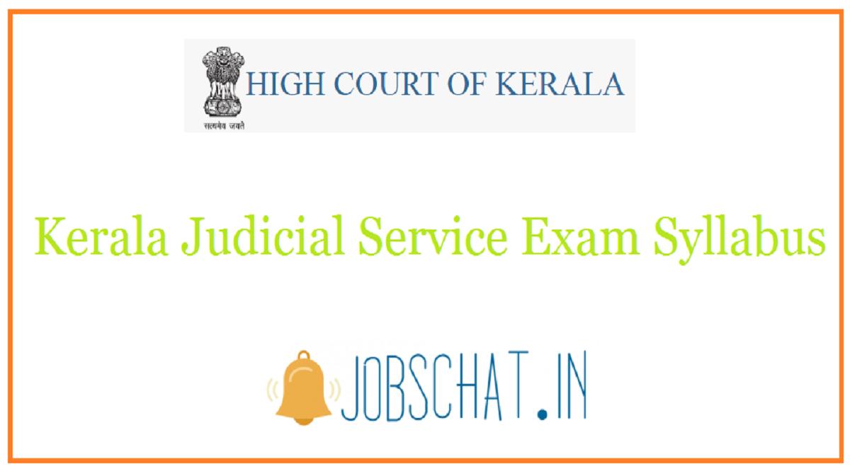 Kerala Judicial Service Exam Syllabus