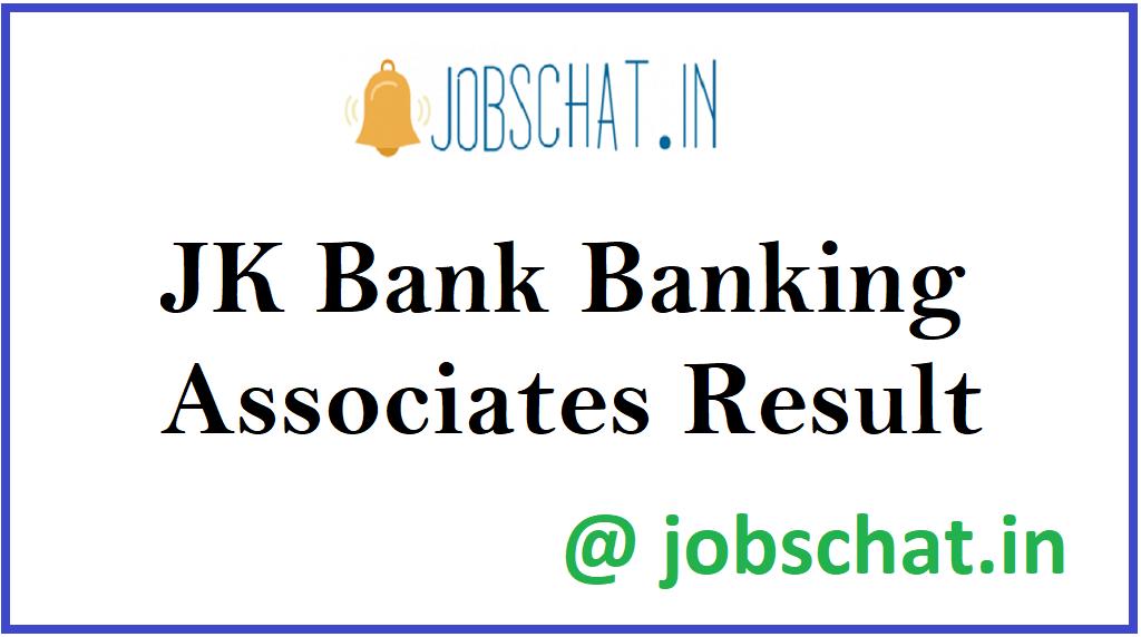 JK Bank Banking Associates Result