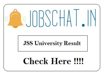 JSS University Result