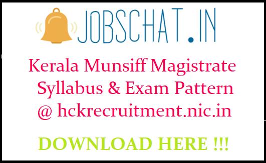 Kerala Munsiff Magistrate Syllabus