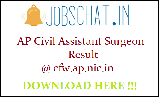 AP Civil Assistant Surgeon Result