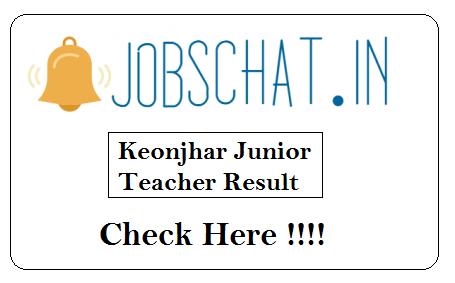 Keonjhar Junior Teacher Result