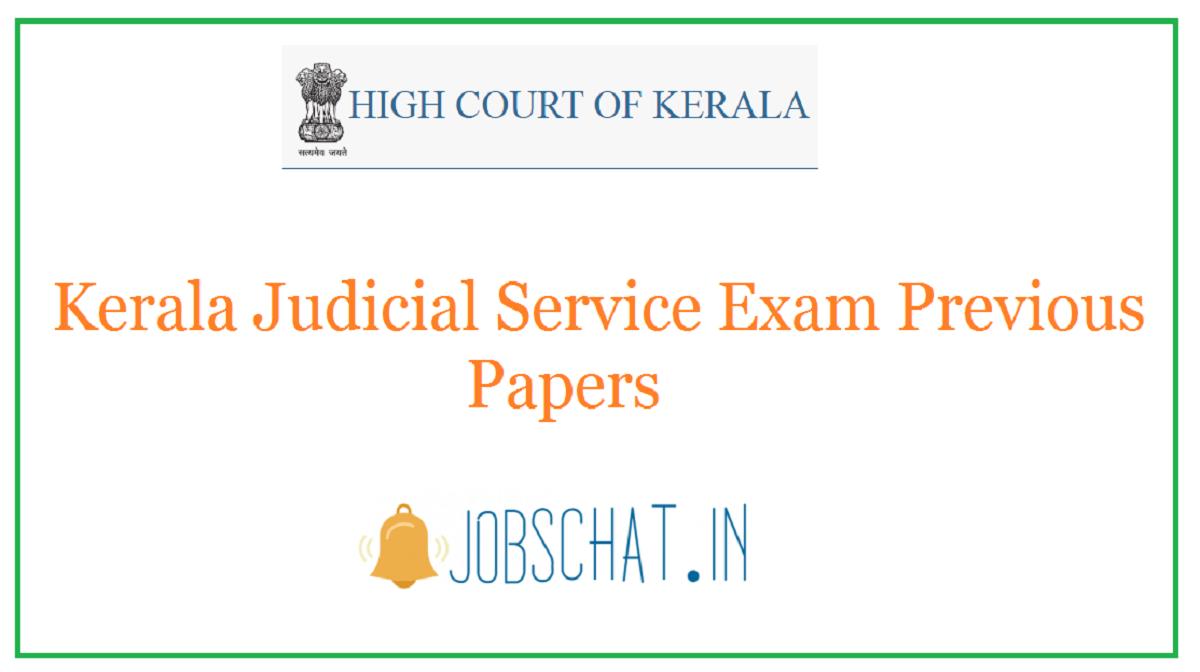Kerala Judicial Service Exam Previous Papers