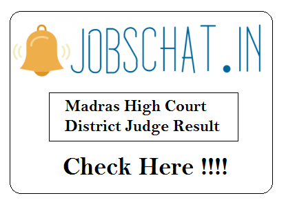 Madras High Court District Judge Result