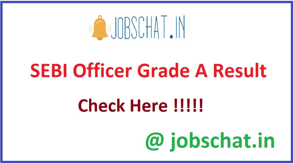 SEBI Officer Grade A Result