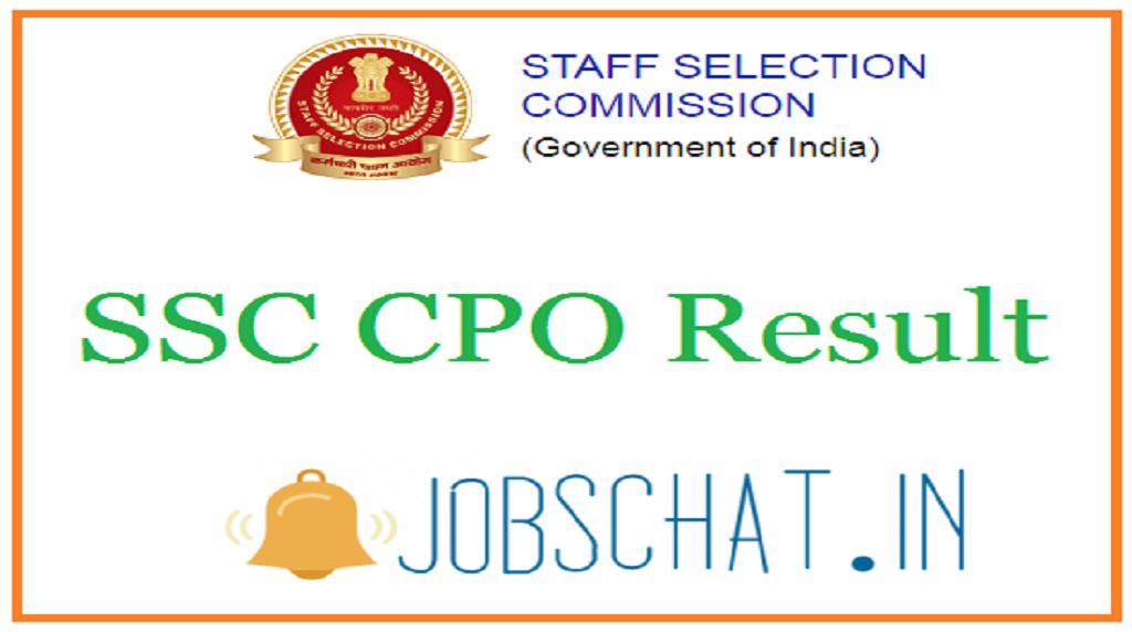 SSC CPO Result