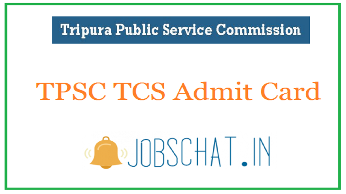 TPSC TCS Admit Card