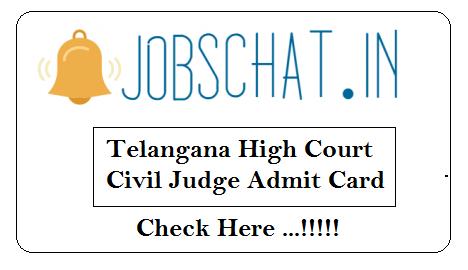 Telangana High Court Civil Judge Admit Card
