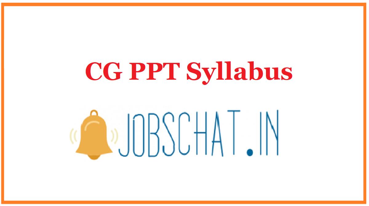 CG PPT Syllabus