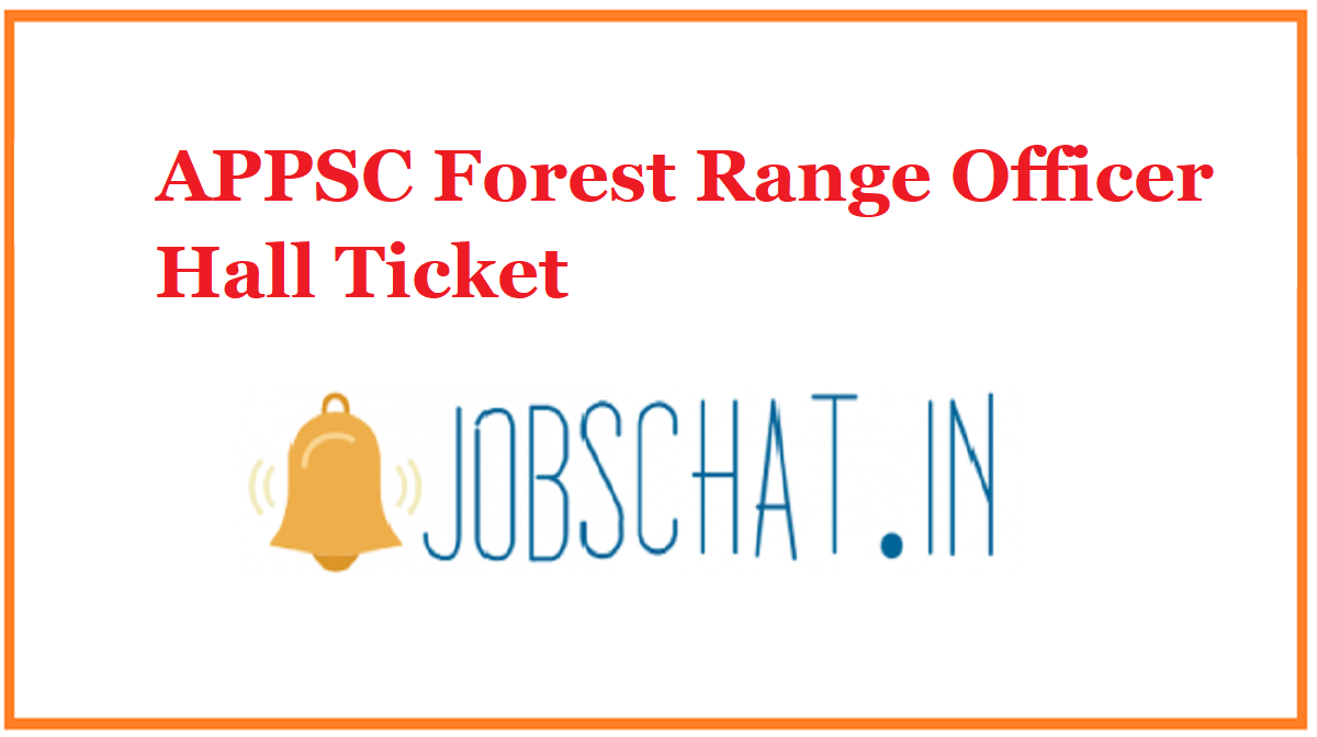 APPSC Forest Range Officer Hall Ticket