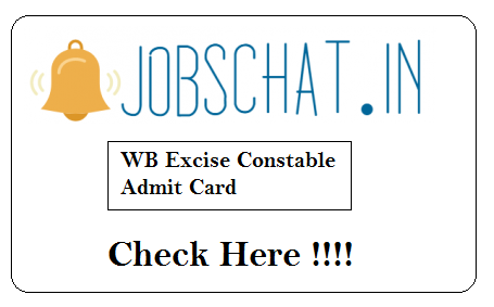 WB Excise Constable Admit Card