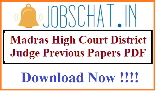 Madras High Court District Judge Previous Papers