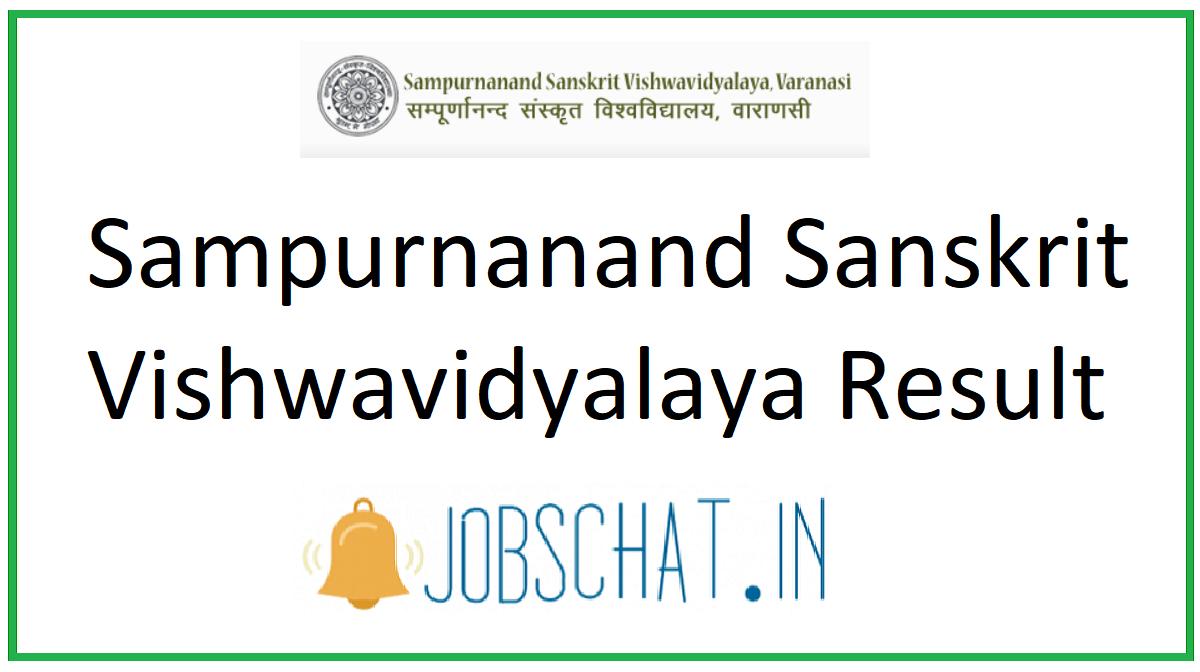 Sampurnanand Sanskrit Vishwavidyalaya Result