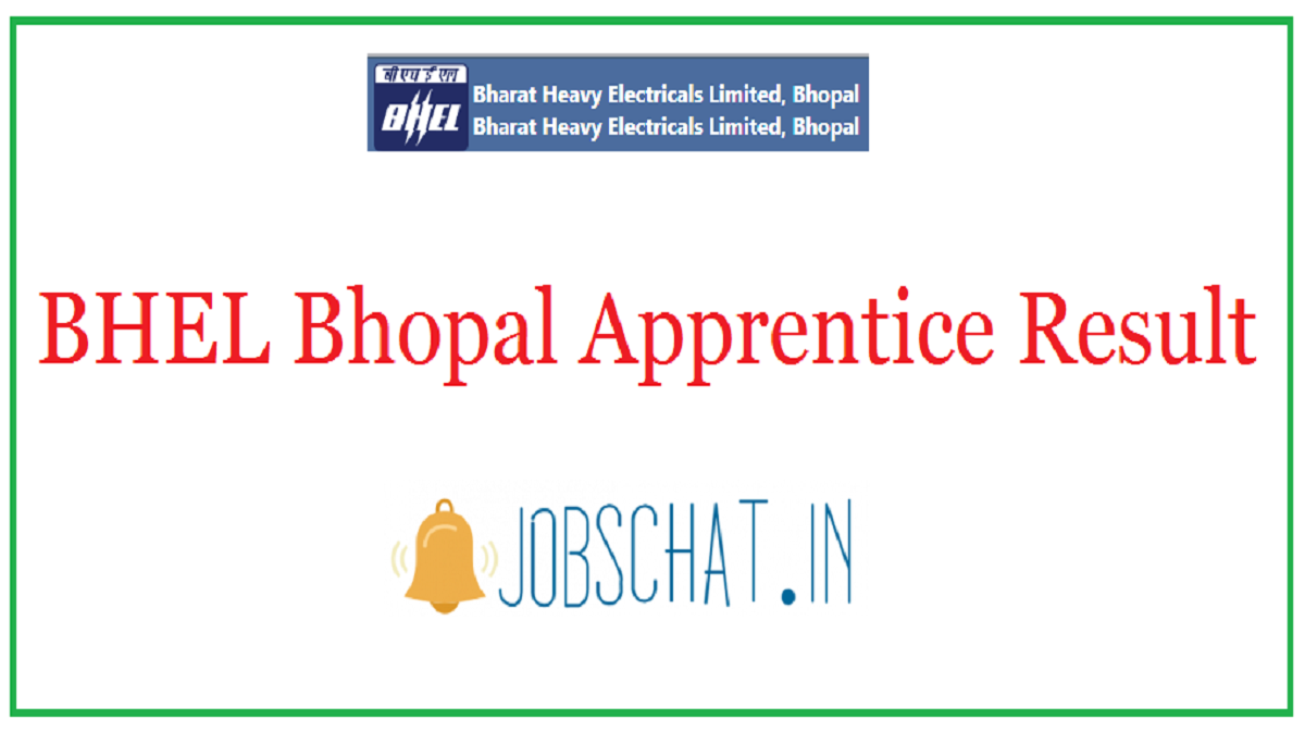 BHEL Bhopal Apprentice Result