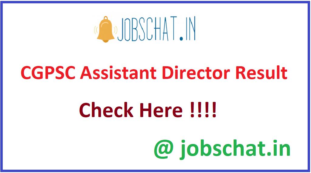 CGPSC Assistant Director Result