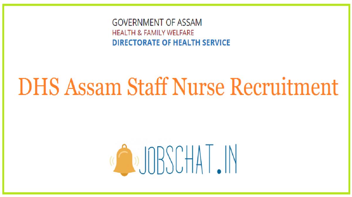 DHS Assam Staff Nurse Recruitment