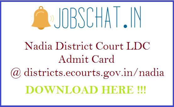 Nadia District Court LDC Admit Card